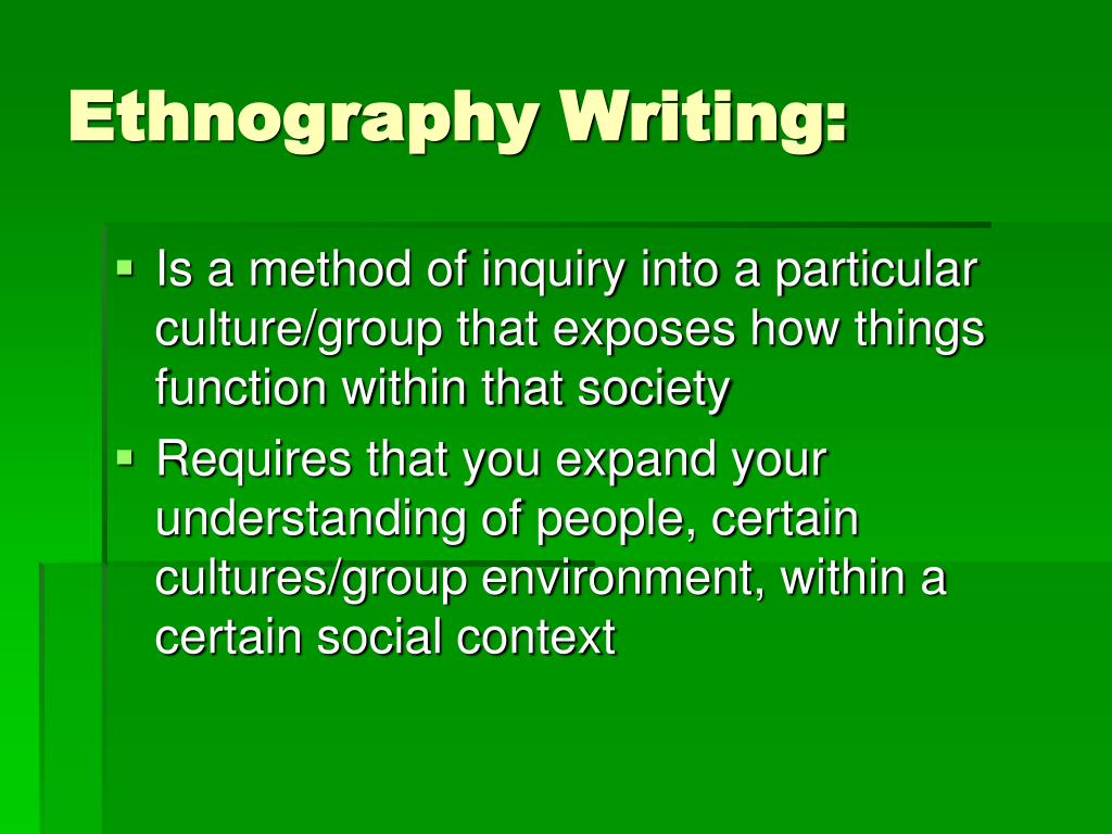 ethnographic interview essay