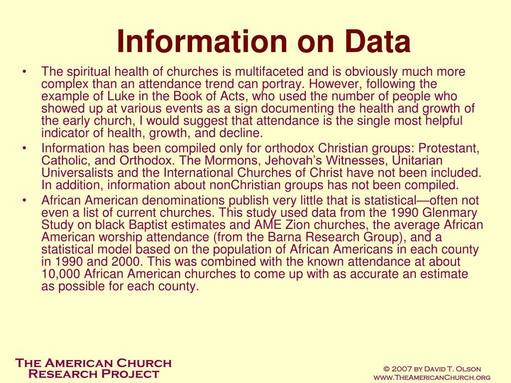 Information on Data