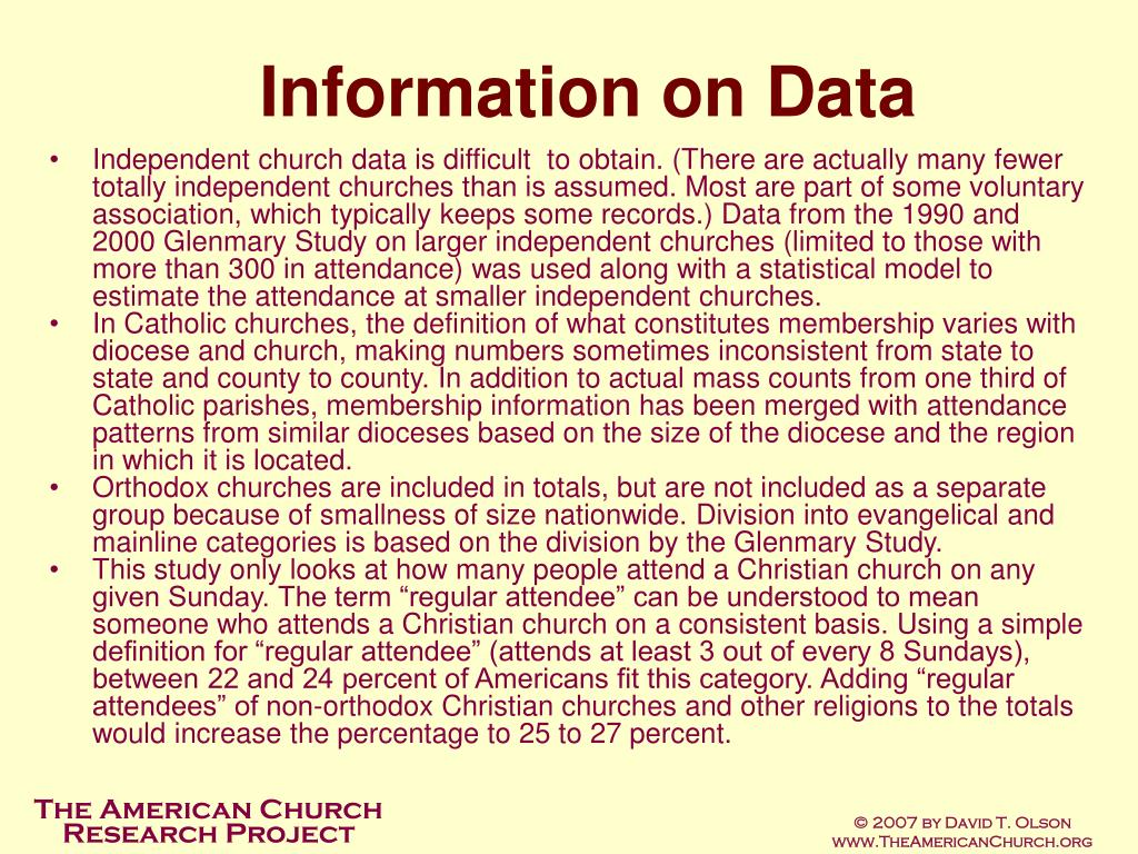 Information on Data
