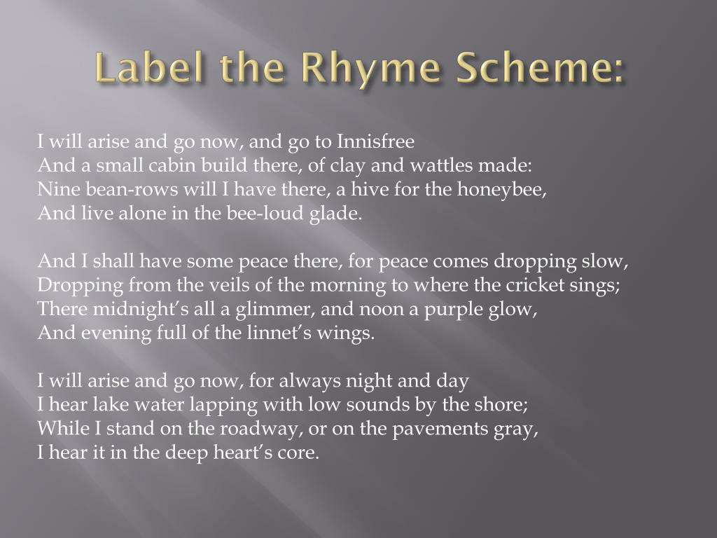 Label the Rhyme Scheme: