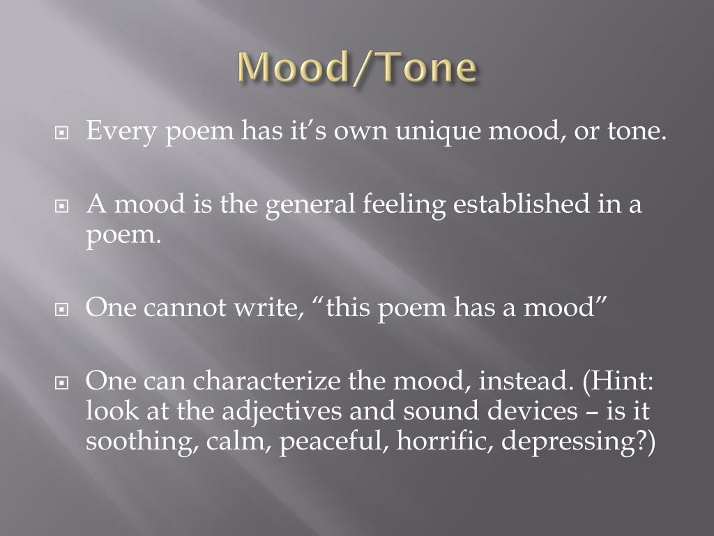 Mood/Tone