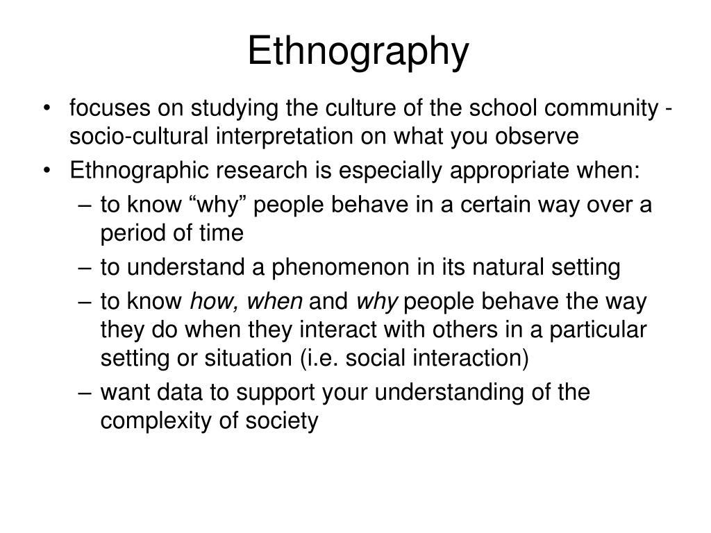 Ethnography
