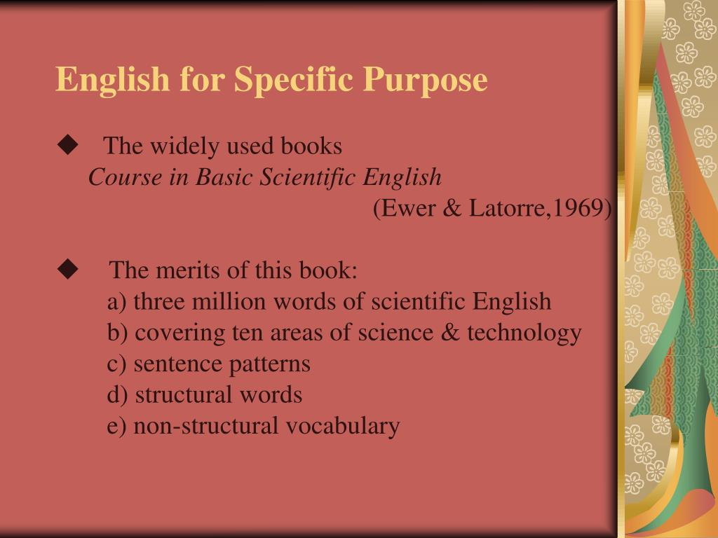English for Specific Purpose