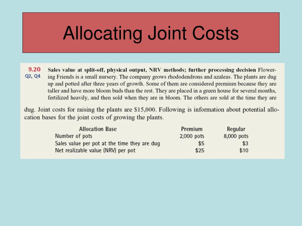 Allocating Joint Costs