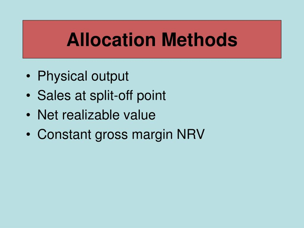 Allocation Methods
