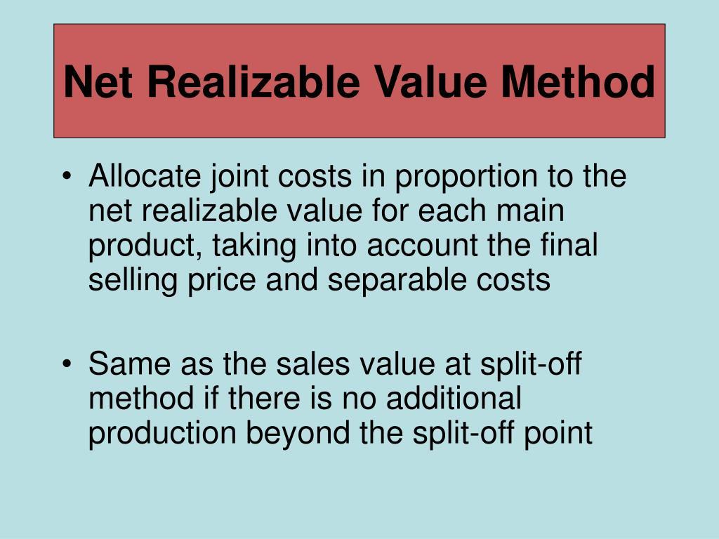 Net Realizable Value Method