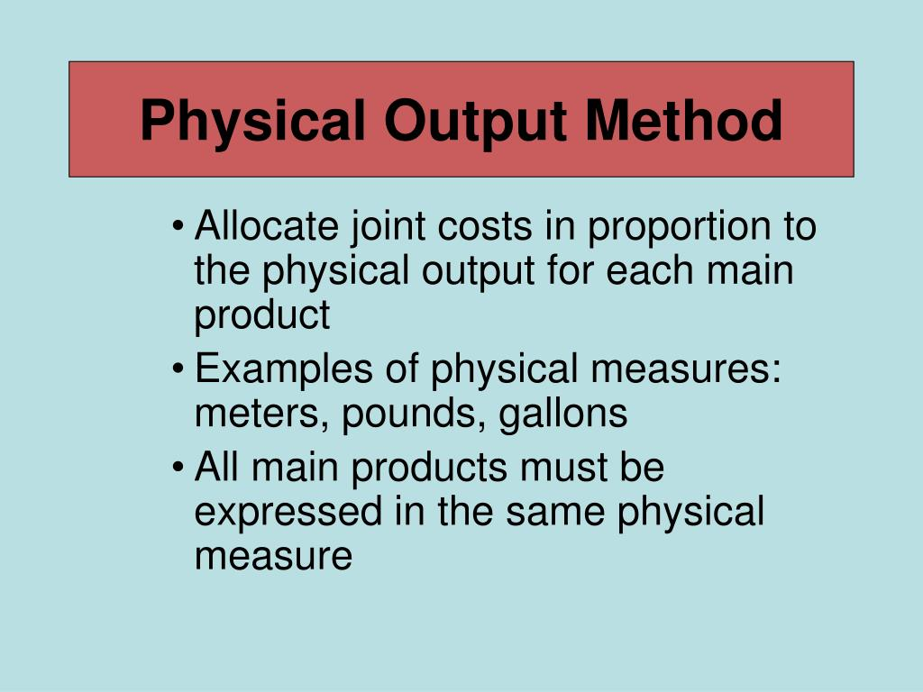 Physical Output Method