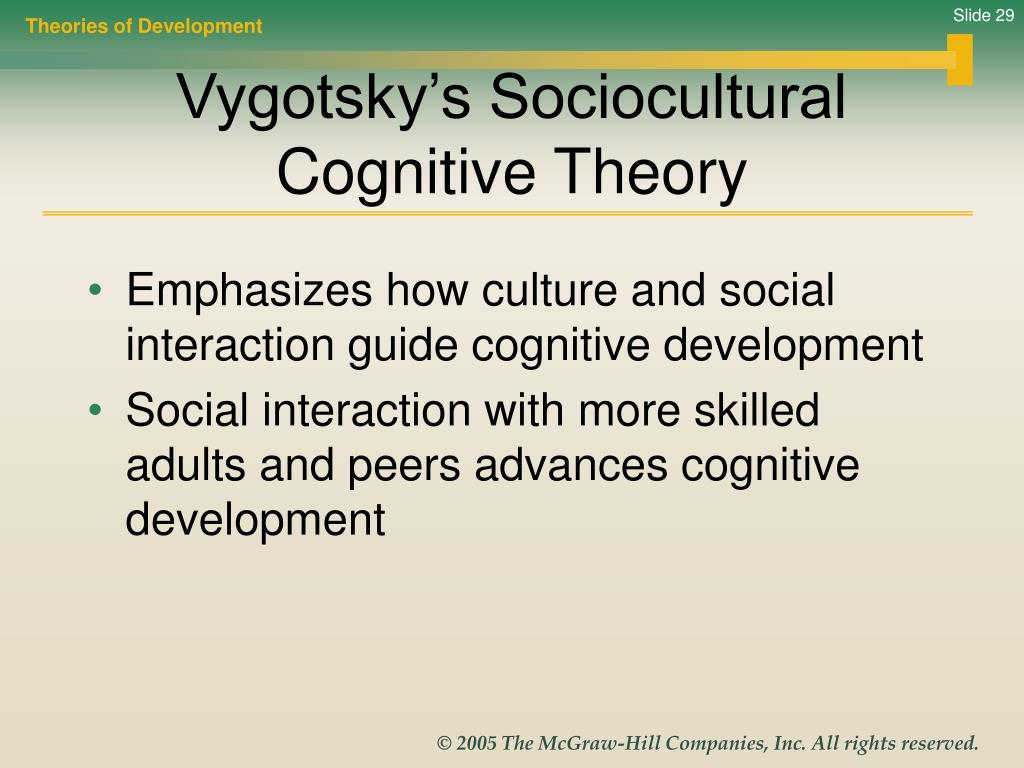 lev vygoskys socialcultural theory Every function in the child's cultural development appears twice: first, on the social level, and later, on the individual level first, between people (interpsychological) and then inside the child (intrapsychological.