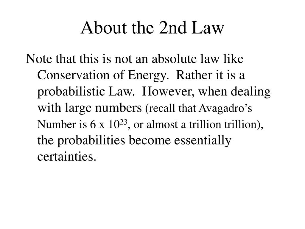About the 2nd Law