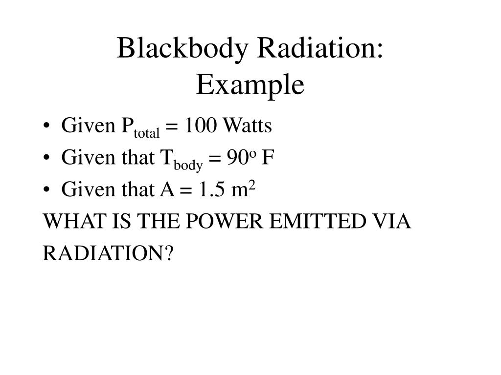 Blackbody Radiation: