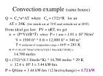 convection example same house