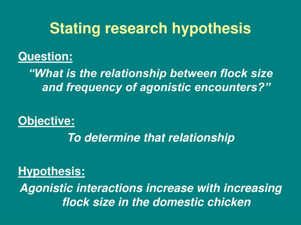 state the null hypothesis
