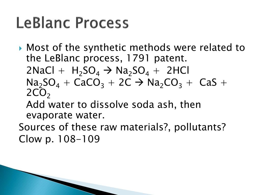 LeBlanc Process