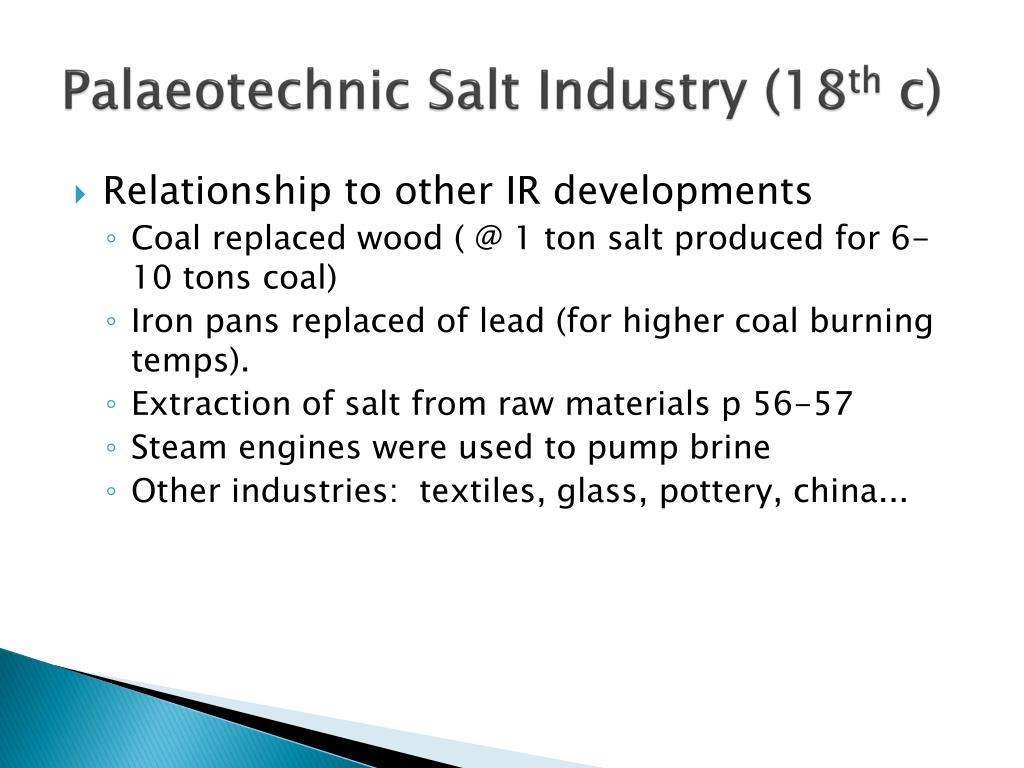 Palaeotechnic Salt Industry (18