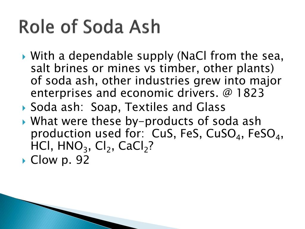 Role of Soda Ash