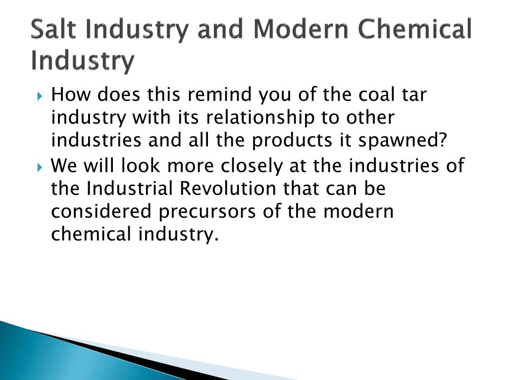 Salt Industry and Modern Chemical Industry