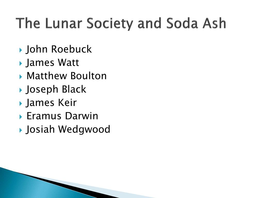 The Lunar Society and Soda Ash