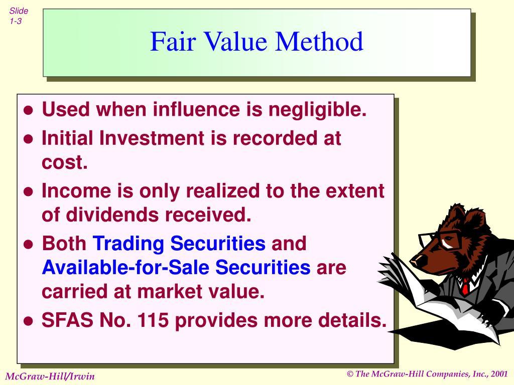 Fair value approach stock options
