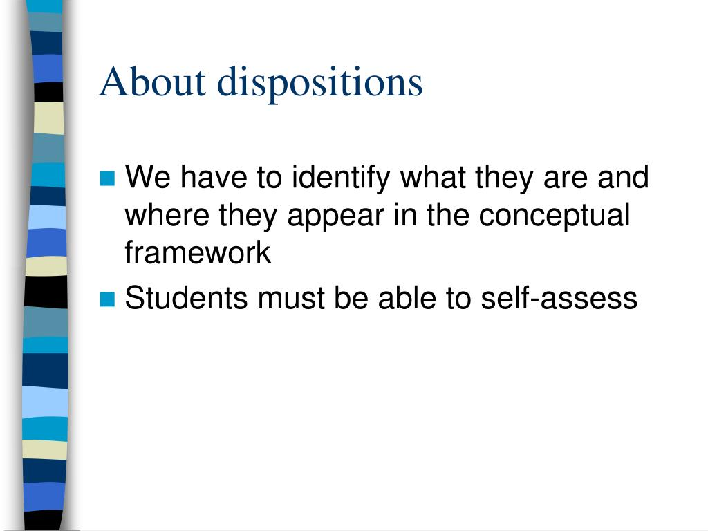 About dispositions