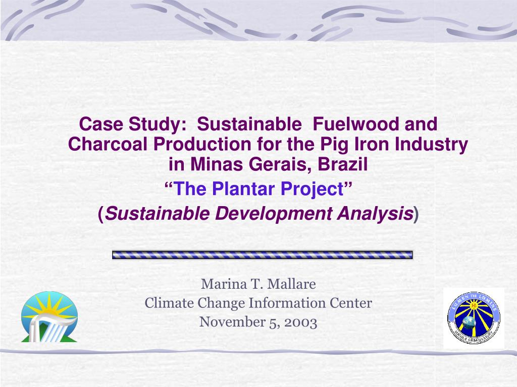 Case Study:  Sustainable  Fuelwood and Charcoal Production for the Pig Iron Industry in Minas Gerais, Brazil