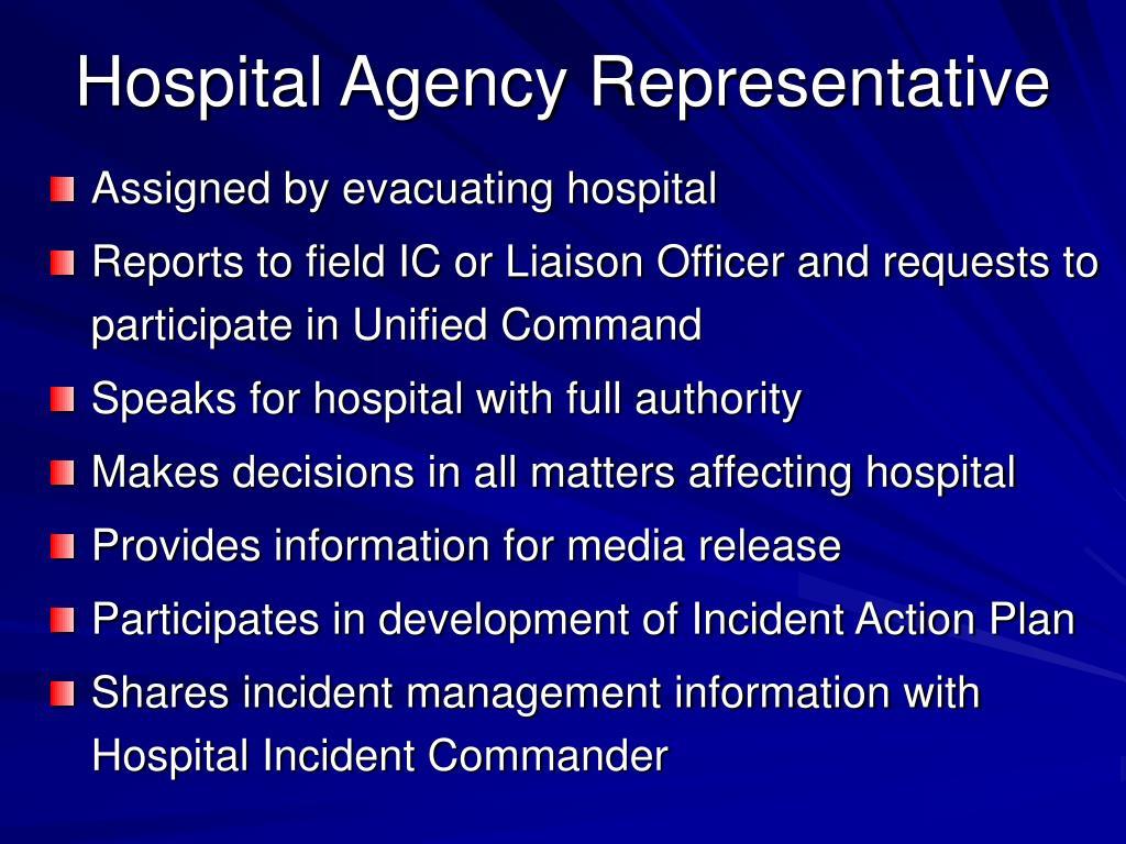 Hospital Agency Representative