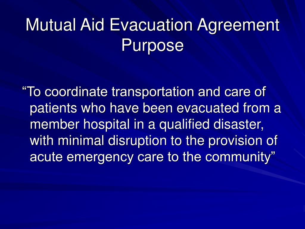 Mutual Aid Evacuation Agreement