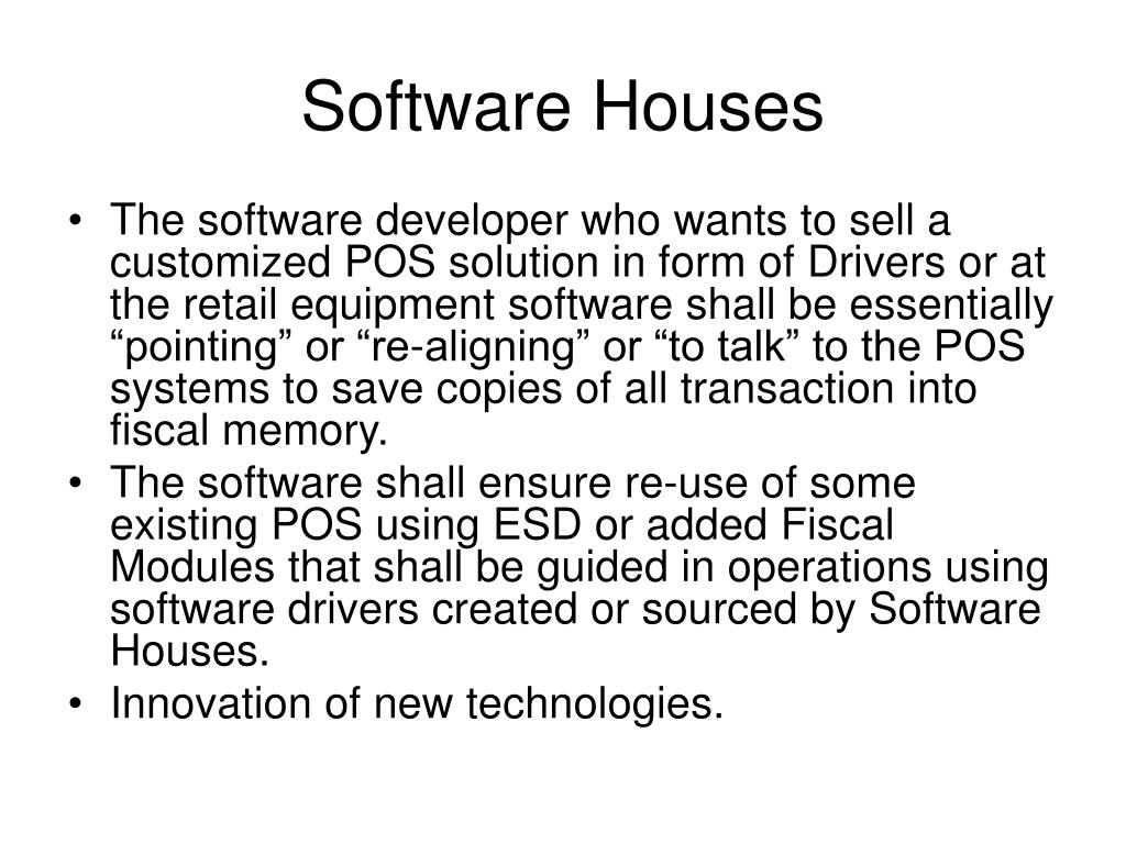 Software Houses