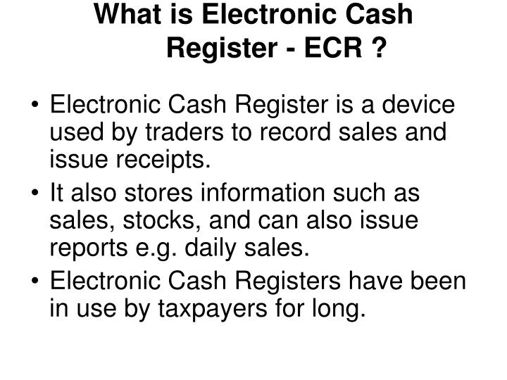 What is electronic cash register ecr