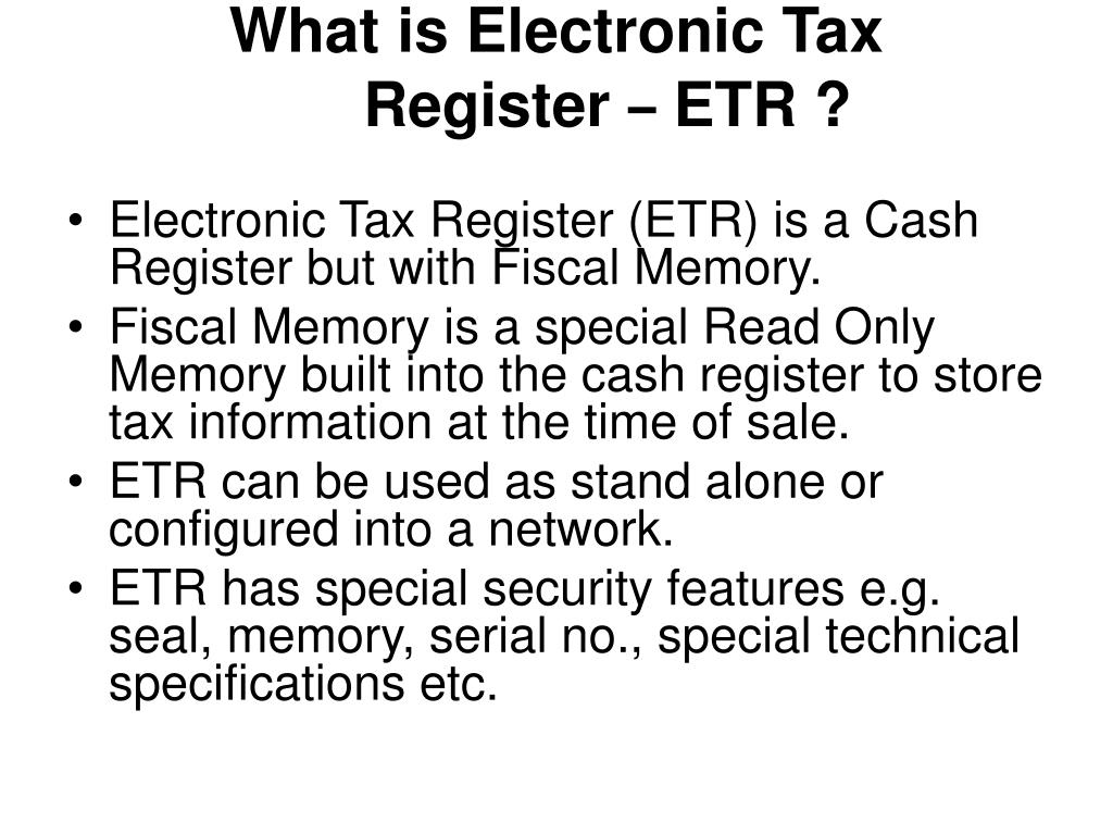 What is Electronic Tax