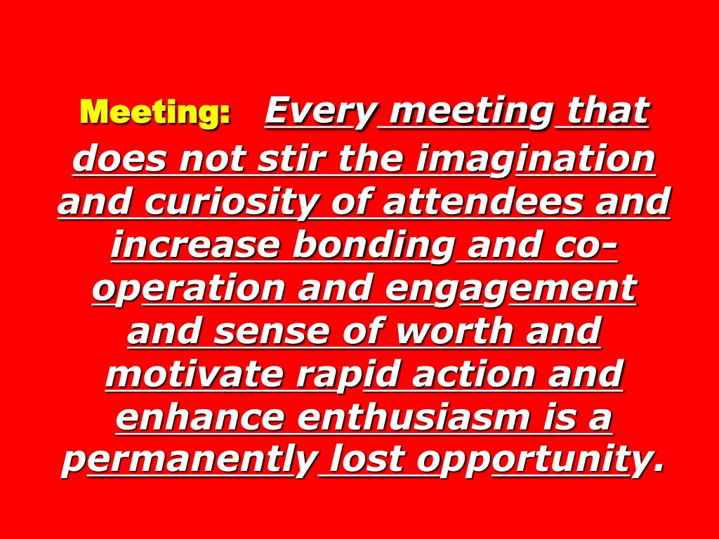Meeting: