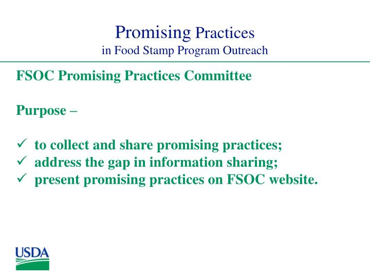 Promising practices in food stamp program outreach3