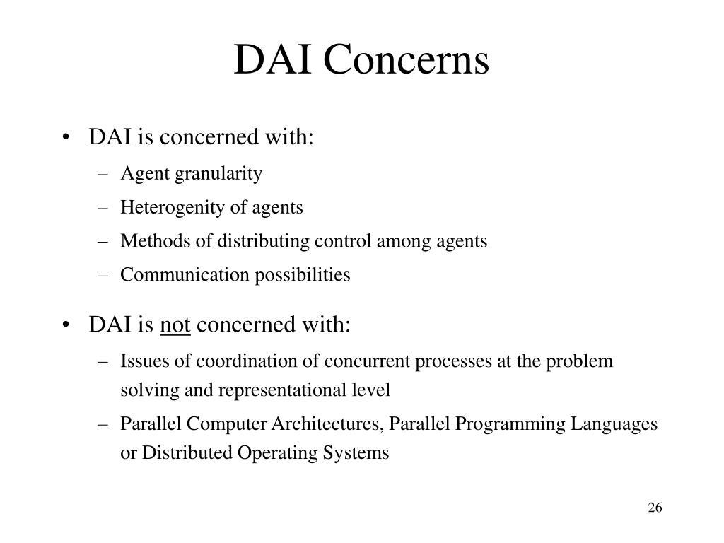 DAI Concerns