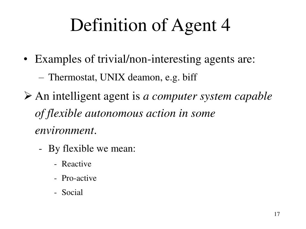 Definition of Agent 4
