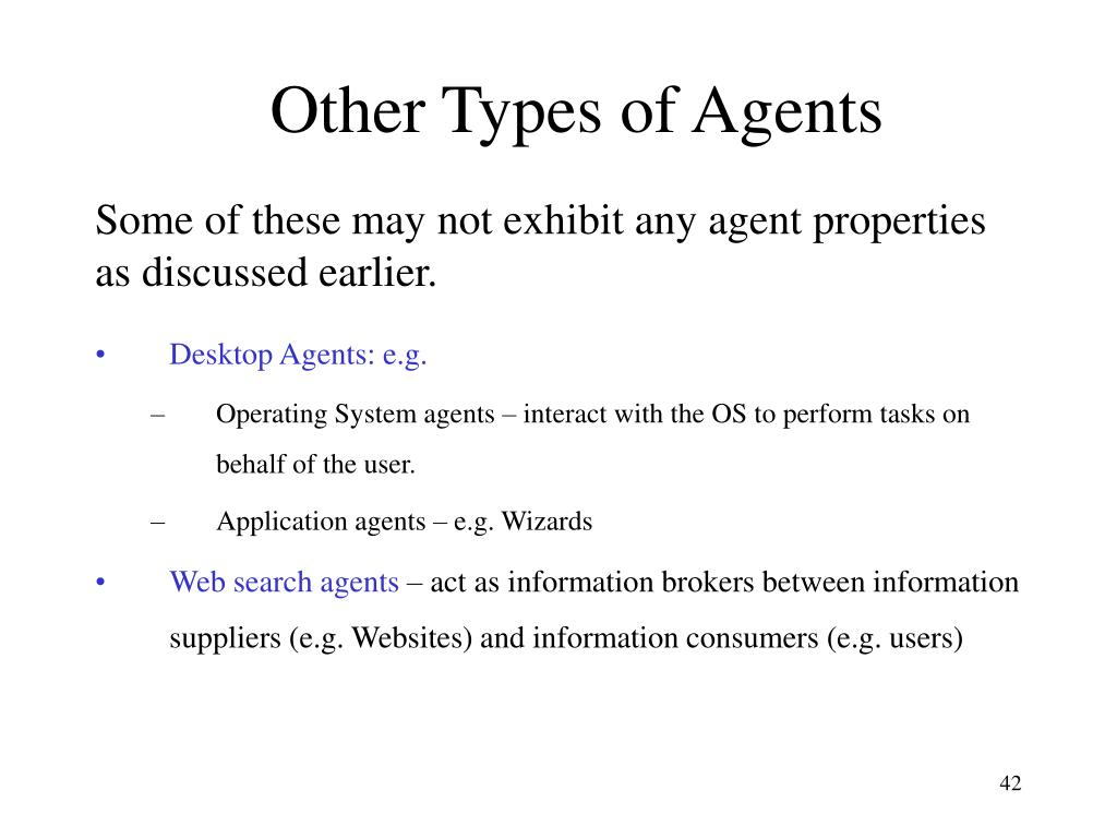 Other Types of Agents