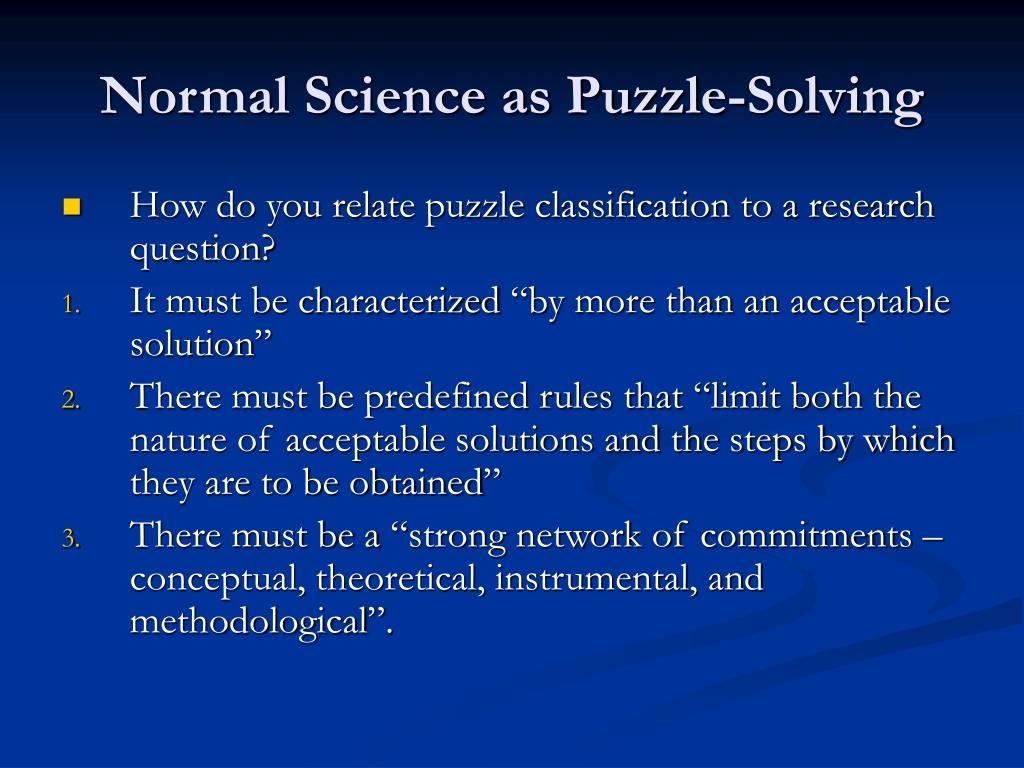 Normal Science as Puzzle-Solving