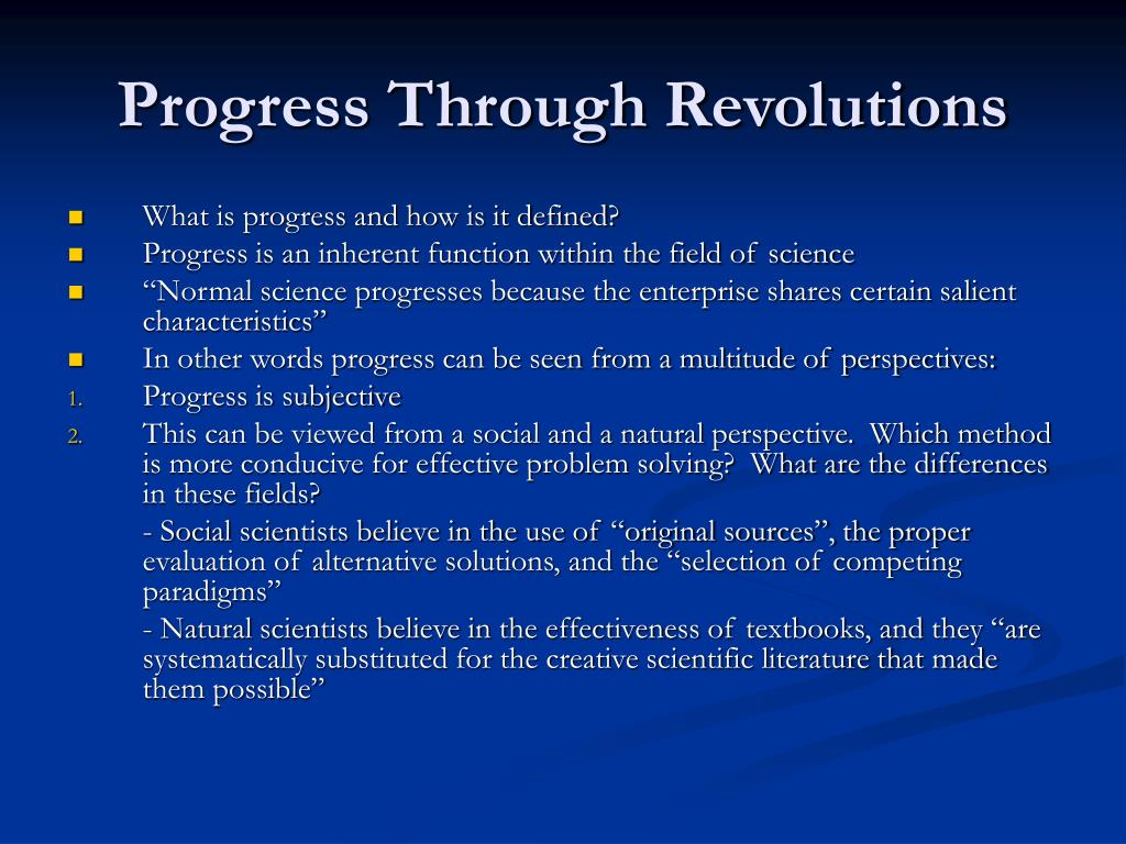 Progress Through Revolutions