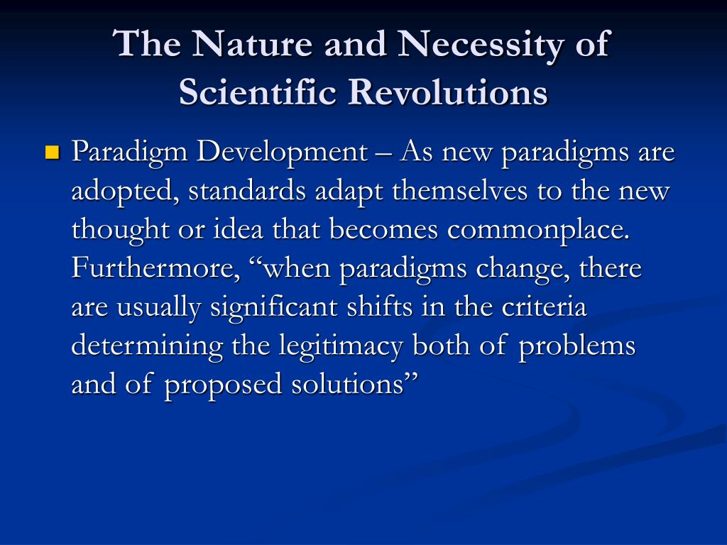 The Nature and Necessity of Scientific Revolutions