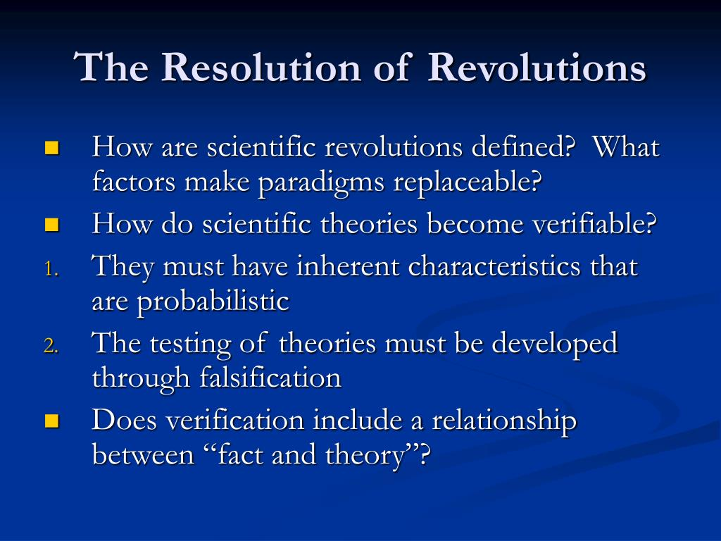 The Resolution of Revolutions