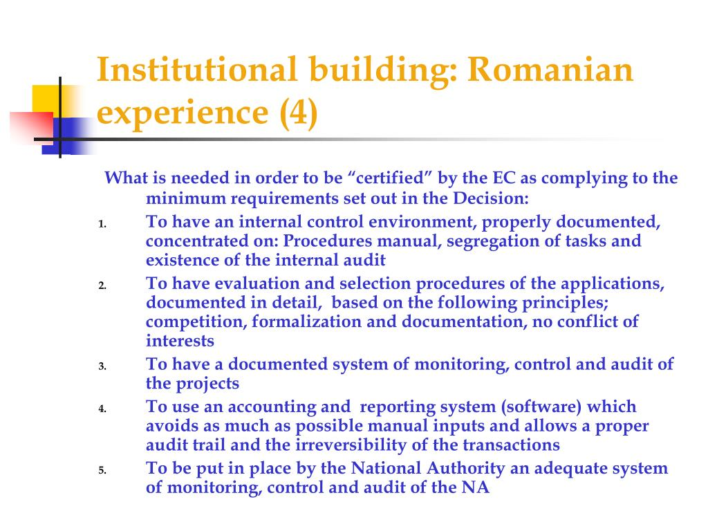 Institutional building: Romanian experience (4)