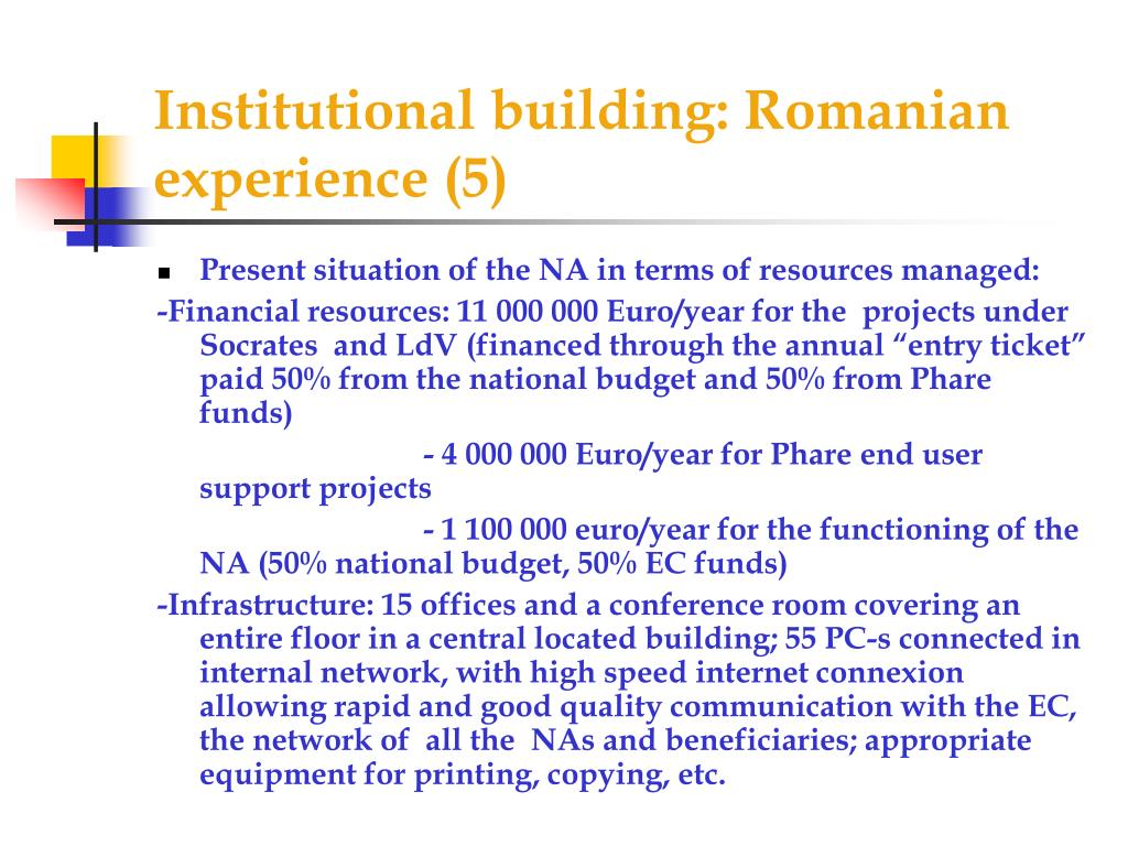 Institutional building: Romanian experience (5)