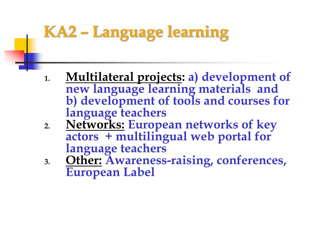 KA2 – Language learning