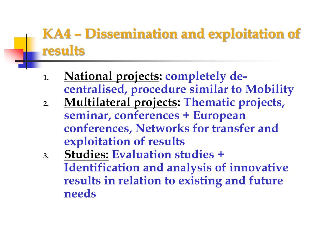 KA4 – Dissemination and exploitation of results