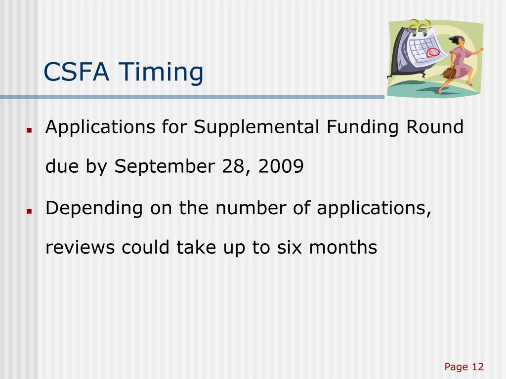 CSFA Timing
