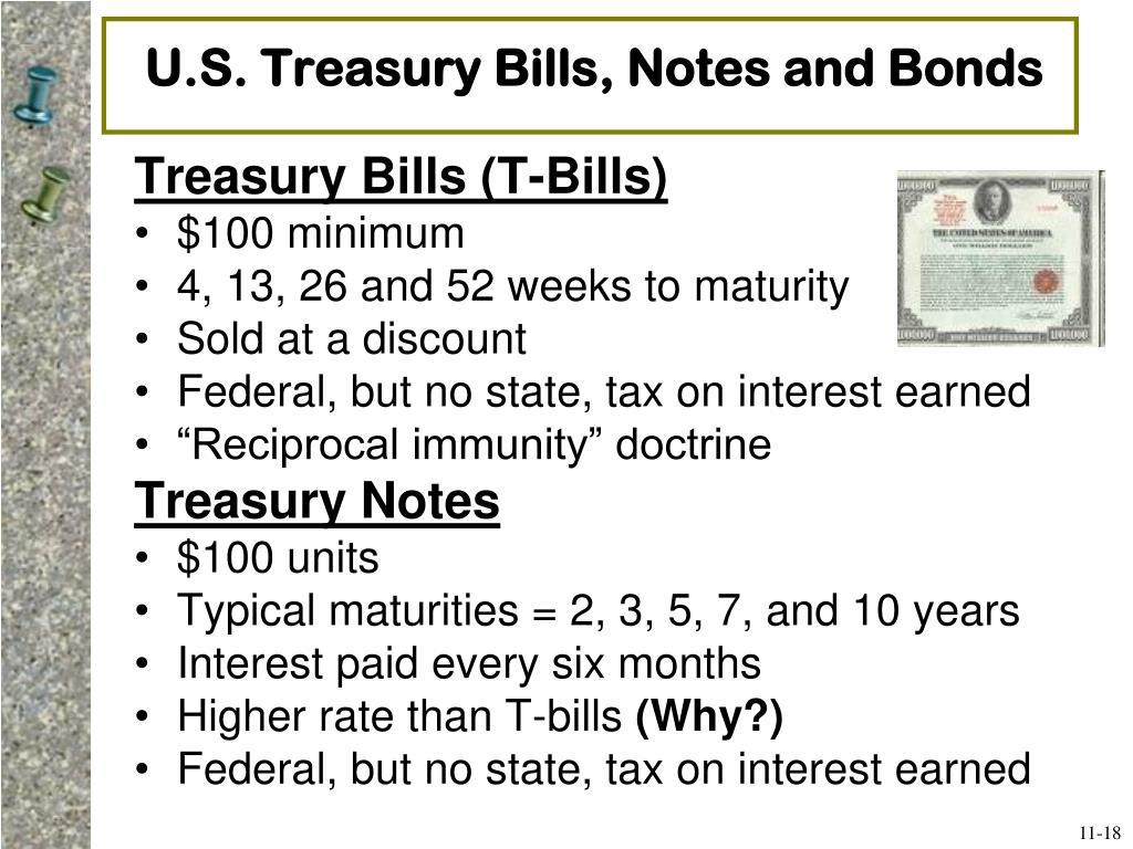 U.S. Treasury Bills, Notes and Bonds