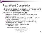 real world complexity
