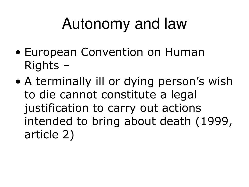 Autonomy and law
