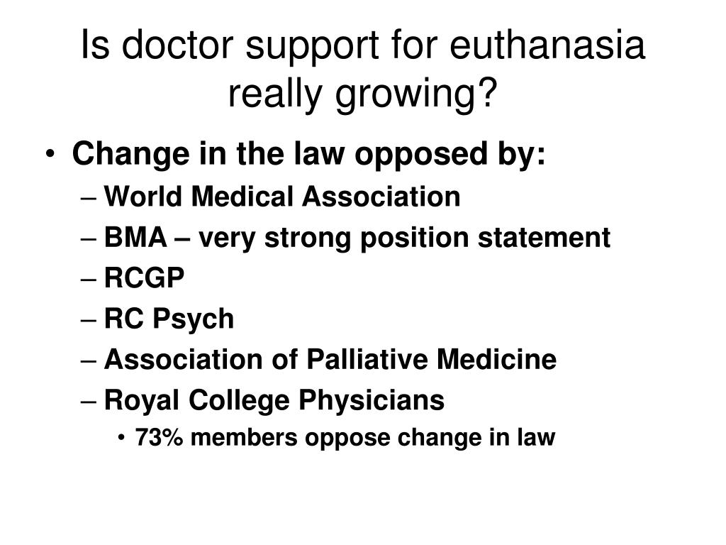 Is doctor support for euthanasia really growing?