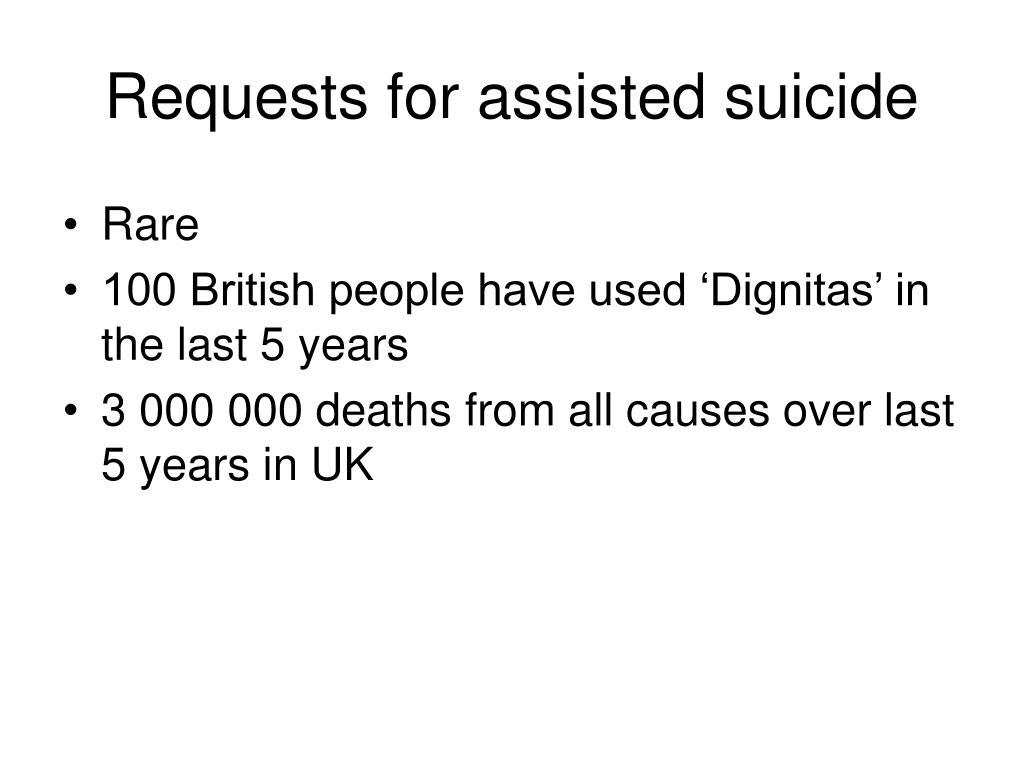 Requests for assisted suicide