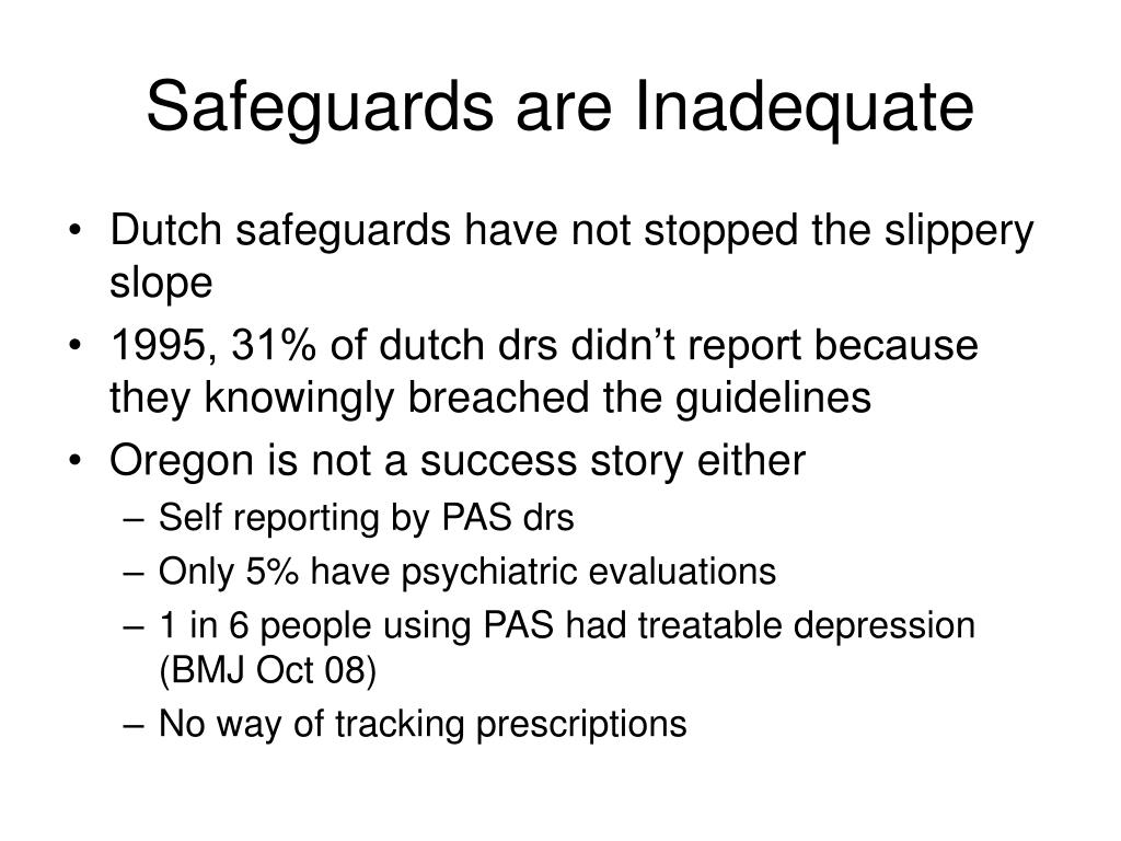 Safeguards are Inadequate