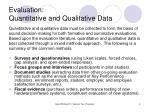 evaluation quantitative and qualitative data